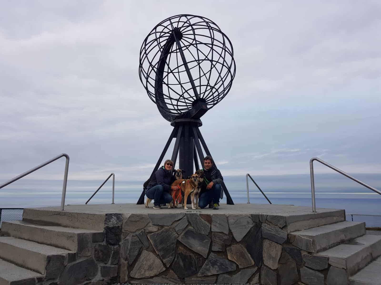 Foto di gruppo a Capo Nord