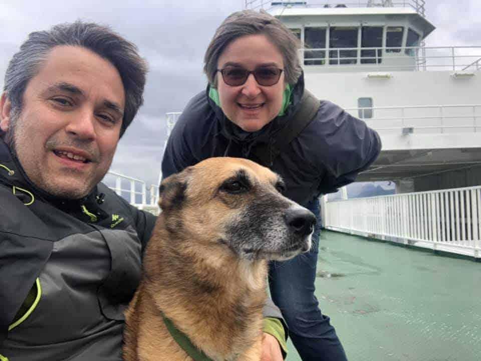 Elena, Stefano e Bartina in traghetto