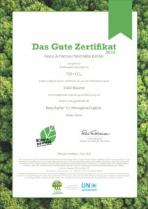 Certificato Plant-for-the-planet